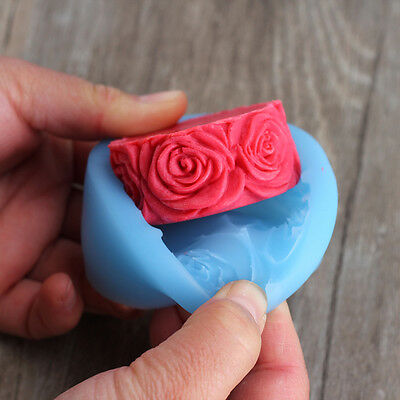 Nicole Rose Flowers Round Silicone Forms For Soap DIY Crafts Mould Candle Molds
