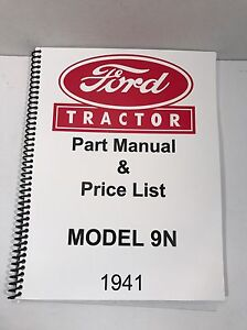 details about ford 9n tractor parts manual 1941