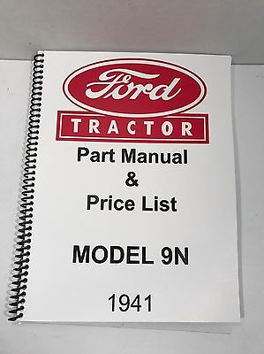 Business & Industrial Ford 9N Tractor Parts Manual 1941 Heavy ...