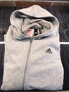 Détails sur Veste Adidas 16ans = Taille M Homme Gris Neuf Sans Etiquette