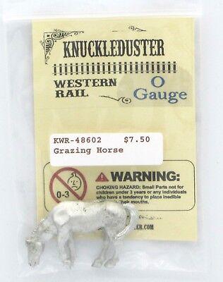Knuckleduster KWR-48602 Grazing Horse O Gauge Western Rail Animal Figure NIB
