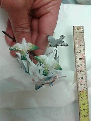 10 uccelli terracotta animali per pastori 10 12 cm presepe crib shereped