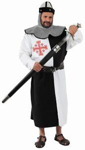 Deguisement-LUXE-Homme-CHEVALIER-XL-Medieval-Templier-Croisade-NEUF-Pas-cher