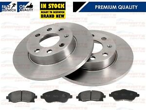 FOR-VAUXHALL-CORSA-C-FRONT-SOLID-BRAKE-DISCS-AND-BRAKE-PADS-00-06-NON-ABS-MODELS