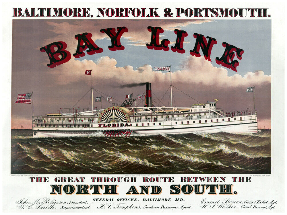 8144.Decoration Poster.Home Room wall art design print.Steamboat Bay Line decor