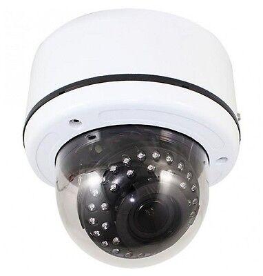 TIV-132V-W HD-TVI 2MP 1080p Outdoor Dome Camera 35 IR LED 2.8-12mm VF Lens