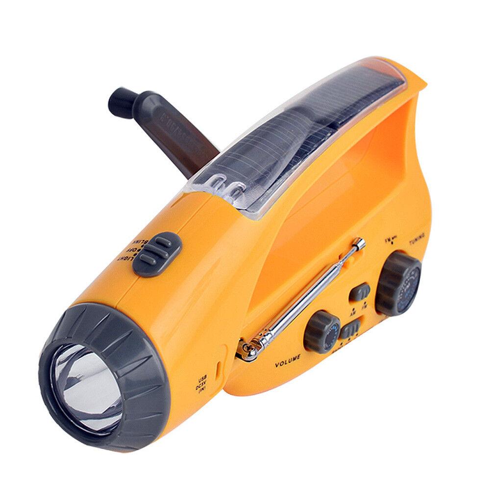 Lampe Torche Led Chargeur Solaire Avec Manivelle Radio  Batterie Secours Mobile  factory direct