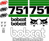 751 Replacement Decals Decal Kit / Sticker Set Skid Loader Steer Fits Bobcat