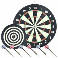 Trademark Global Game Room Dartboard Set With 6 Darts , New, Free Shipping on sale