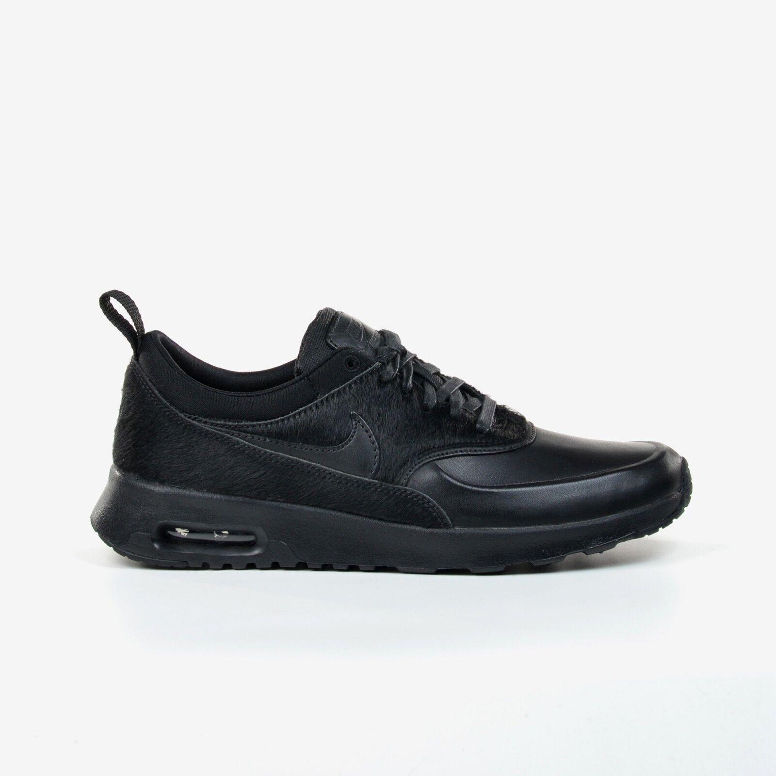 Nike Women's Air Black Max Thea Premium Triple Black Air Running Shoes 2017 DS 616723-011 26d7d6