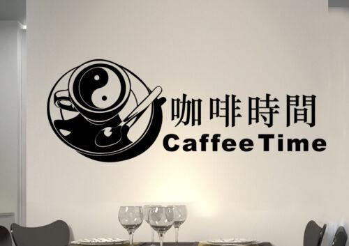 wkf25 WandTattoo Wandsticker WandSpruch CAFE time COFFEE KAFFEE  KÜCHE