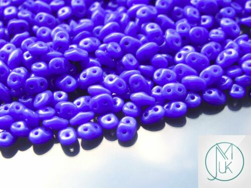 10g Czech SuperDuo Twin Beads Opaque Blue