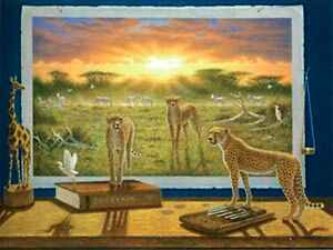 NEW IN BOX Clementoni Jigsaw Puzzle 1000 Piece THE CHEETAHS Cheetah