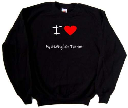 I Love Heart My Bedlington Terrier Sweatshirt