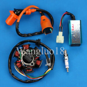 Details about CDI Box Ignition Coil FOR GY6 150 6 Pole Stator 150cc  Performance ATV Go Kart