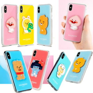 Kakao-Little-Friends-Crystal-Volume-Case-for-Apple-iPhone-XS-Max-XS-X-8-8-Plus-7
