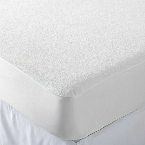 100/% WATERPROOF TERRY TOWEL MATTRESS PROTECTOR DEEP FITTED SHEET ALL SIZES