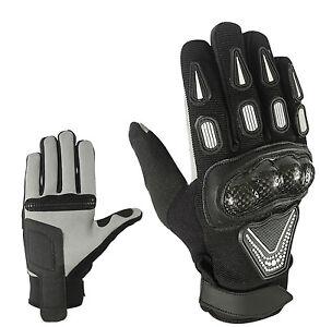 SPORT-MOTO-GUANTI-DITO-pieno-estate-pelle-gloves-taglia-S-M-L-XL-e-2xl