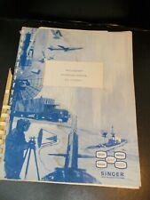Singer Communications Service Monitor Fm 10 Mdm 1 Operations Manual
