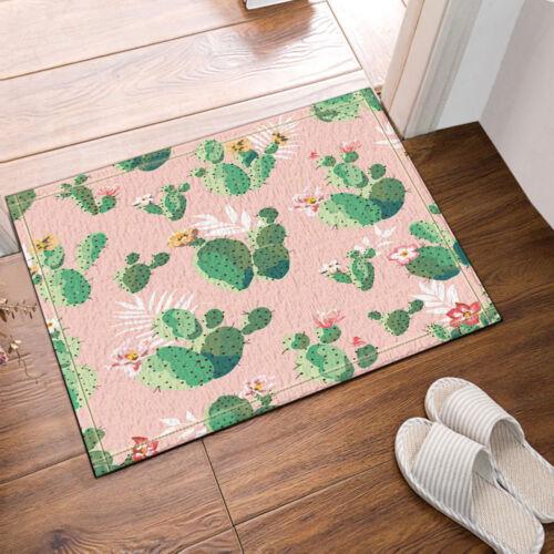 """Cactus in Pink Plant Decor Bathroom Rug Non-Slip Floor Indoor Door Mat 16x24/"""""""