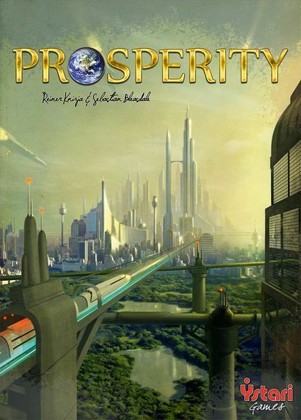 Prosperity Board Game - Research & Develop your City Keep Pollution down to Win