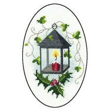 Derwentwater Designs Christmas Cross Stitch Card Kit - Lantern