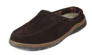 Rockport-Men-039-s-Brown-Suede-Padded-Plaid-Lining-Clogs-Slippers-Shoes-Ret-75-New