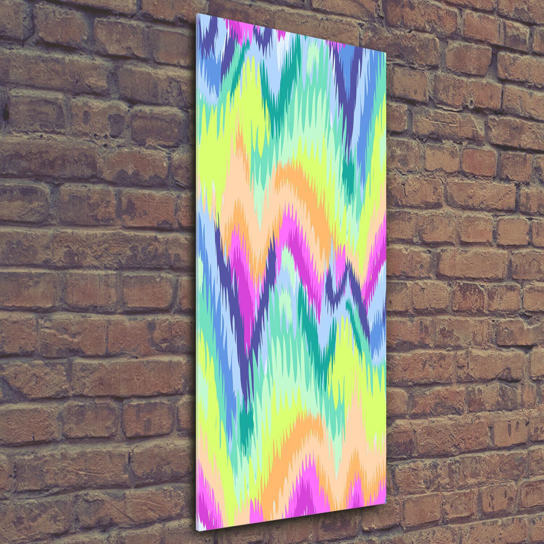 Wand-Bild Kunstdruck aus Acryl-Glas Hochformat 50x125 Regenbogen