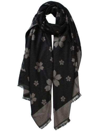 New Floral Print Wool Blend Women's Warm Winter Scarf Shawl Hijab