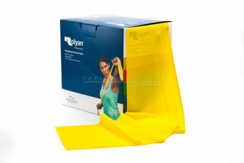 3 or 5 Rolyan Resistance Exercise Band Set Fitness Crossfit Rehab Yoga Stretch