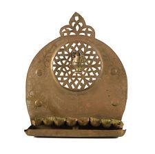 19th century Middle Eastern Brass Oil Hanukkiah Menorah with Shamosh