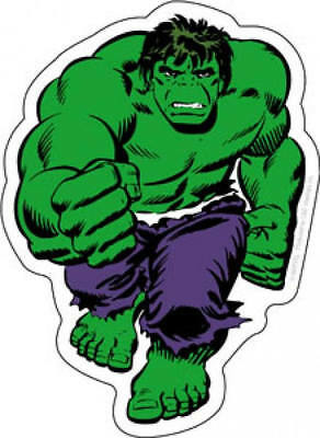 Decal Marvel Comics Incredible Hulk Fist Vinyl Sticker Green Superhero