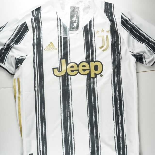 adidas Juventus 20/21 Home Authentic Jersey White GJ7601 Soccer Football Large
