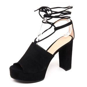 best sneakers 24dce af430 Details about F0800 sandalo donna black UNISA VALE zeppa scarpe suede shoe  woman