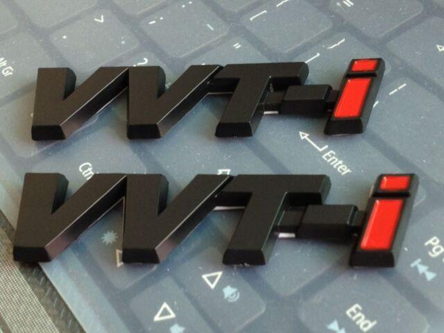 2pcs 3D ABS Trunk Badge Fender Emblem Black/Red VVTI VVT-I Sticker For Toyota