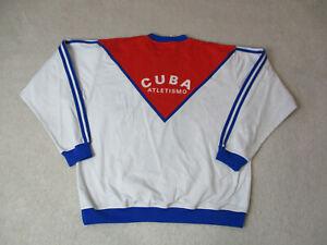 VINTAGE-Adidas-Cuba-Olympics-Jacket-Adult-Extra-Large-Blue-Red-Mens-90s-RARE