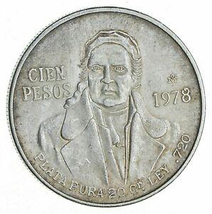 SILVER - WORLD COIN - 1978 Mexico 100 Pesos - World Silver Coin *913
