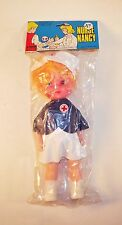 Vintage 1980s Blonde Nurse Nancy Doll - Hong Kong by Larami
