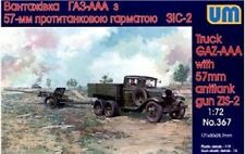 UniModels — GAZ-AAA truck with antitank gun — Plastic model kit 1:72 Scale #367