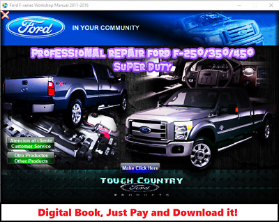 FACTORY REPAIR SERVICE MANUAL FOR FORD SUPER DUTY F 250 F 350 F 450 2011 2016 EBay