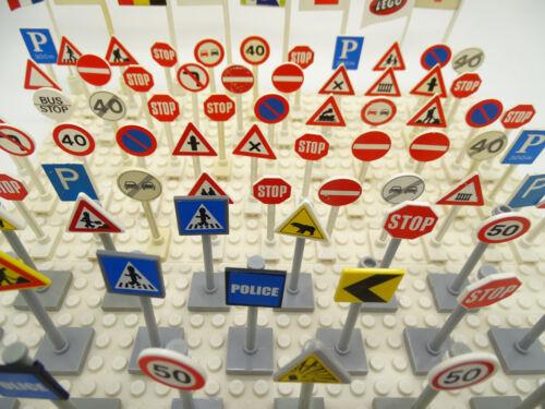 LEGO SEGNALETICA STRADALE//VINTAGE Segnaletica Stradale//FLAG//Railway-carichi da scegliere.