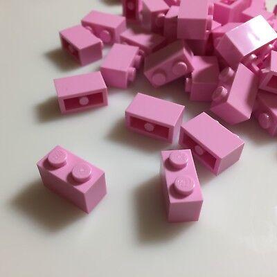 LEGO Bright Pink Brick 1x2 Lot of 100 Parts Pieces 3004