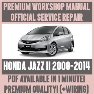 Workshop Manual Service Repair Guide For Honda Jazz Ii 2008 2014
