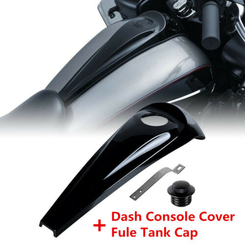 Smooth Dash Fuel Console Cover Gas Tank Cap For Harley Touring Model FLHT FLHX T