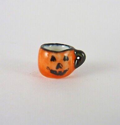 1:12 Dollhouse Miniatures Jack-O-Lantern Mug//Miniature Halloween HMN 1493