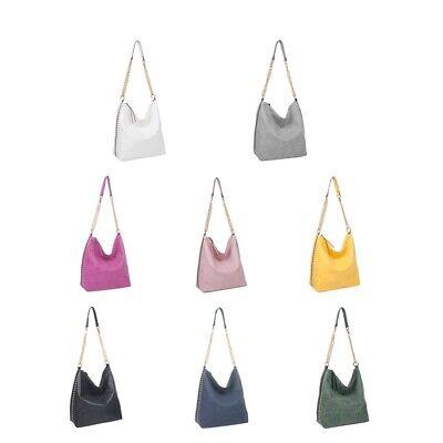 Women/'s Long Handle Soft Leather Shopper Shoulder Tote Bucket Hobo Bag Handbag