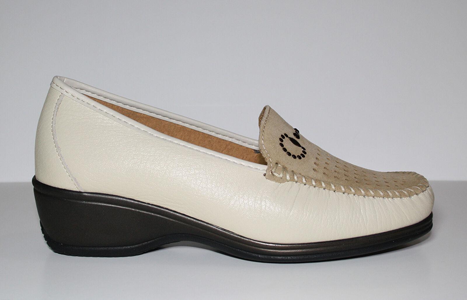 Benexa zapatos mujer mujer mujer Mocassino 7195 Melo Beige  Envío y cambio gratis.
