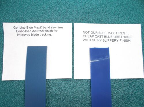"""2 BLUE MAX URETHANE BAND SAW TIRES FOR GENERAL 10/"""" BAND SAW"""
