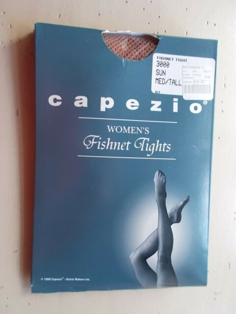f982ab0960110 Capezio Women's Fishnet Tights 3000 Sun Med/Tall Seamless NOS Originally $20