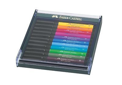 Faber-Castell - PITT Artist Brush Pens - 12  Intensive Colours in Display Box
